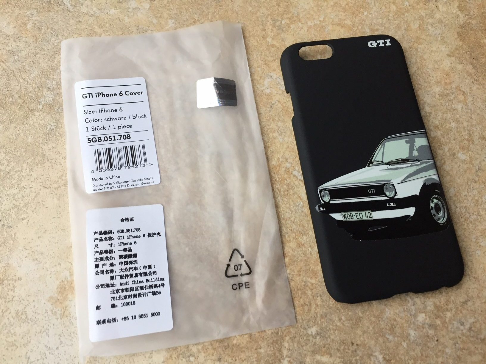 cover iphone 6 golf gti