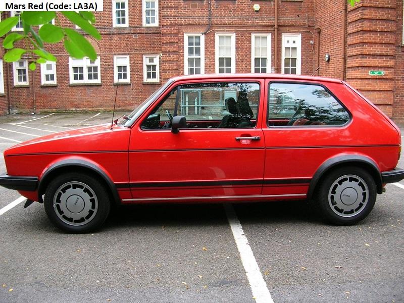 Original Paint Colours / Codes – Volkswagen Golf GTI MK1 Campaign Edition (Part 4) – VW Golf 1