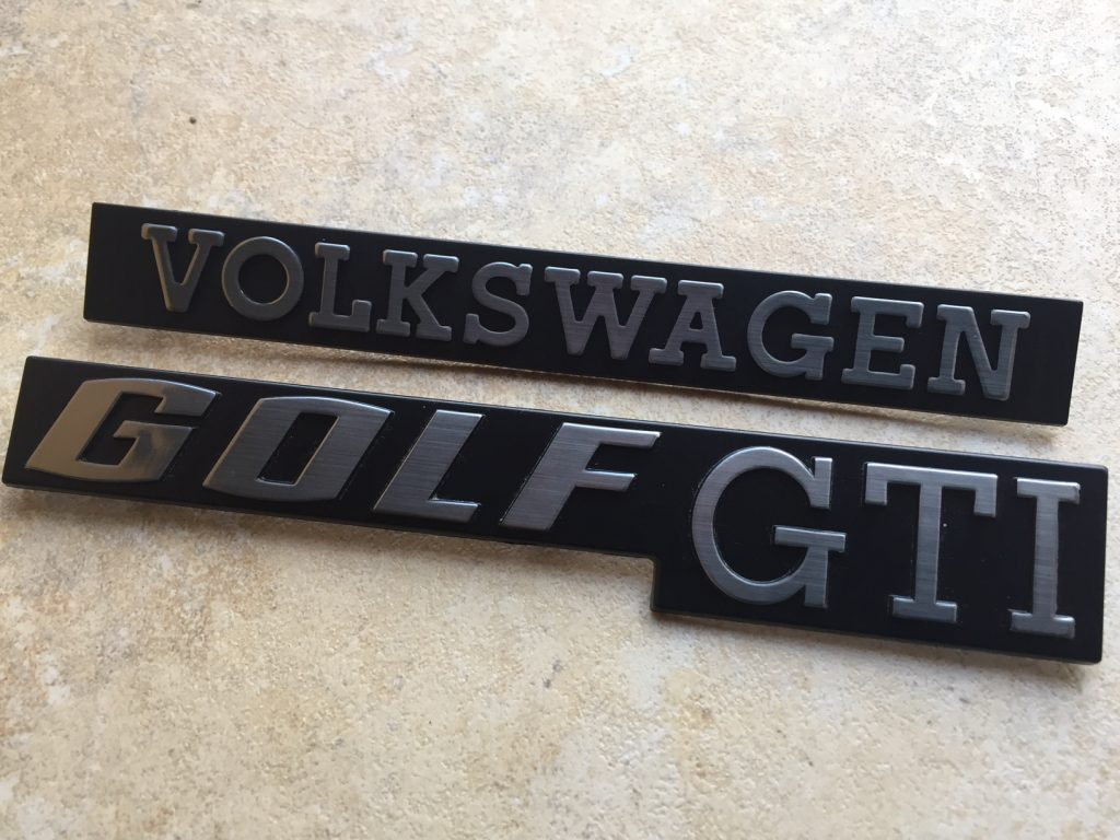Rear GTI Badge Set 'Special'