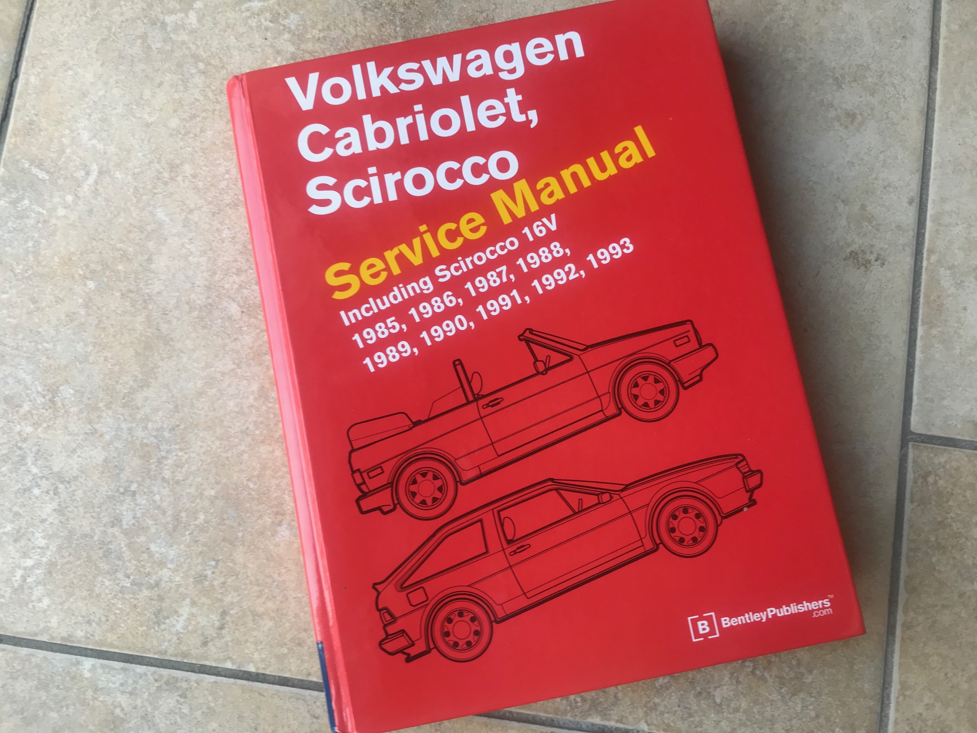 Bentley Volkswagen Cabriolet, Scirocco Service Manual